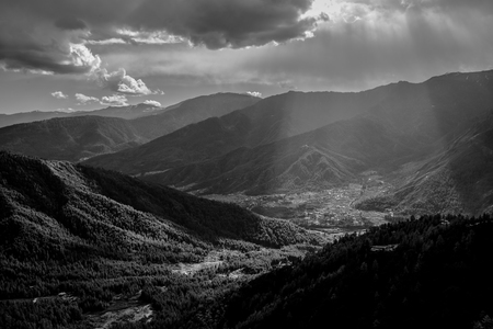 Beam light at valley