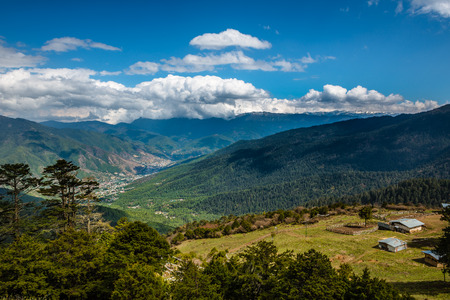 bhutan: Thimphu capital city of Bhutan