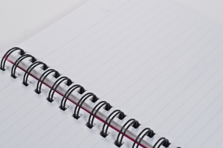 white paper of notebook Stock Photo - 14215498