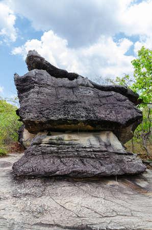 geological formation: Geological formation of stone mountain at Phu Tab Berk National Park, Thailand