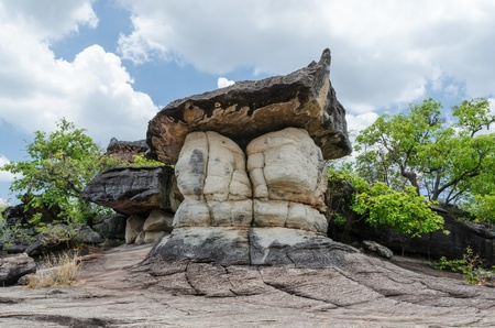 geological formation: Geological formation of stone mountain at Phu Tab Berk National Park, Thailand