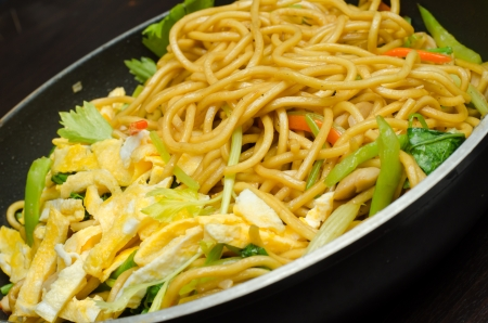 chap sticks: Yakisoba Thai style,Thai noodle in pan