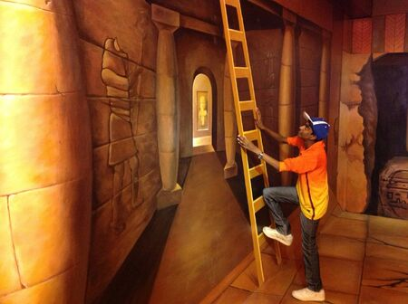 wall painting: 3d wall painting in I-city Stock Photo