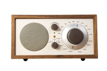 airwaves: Old style Radio isolated on white background