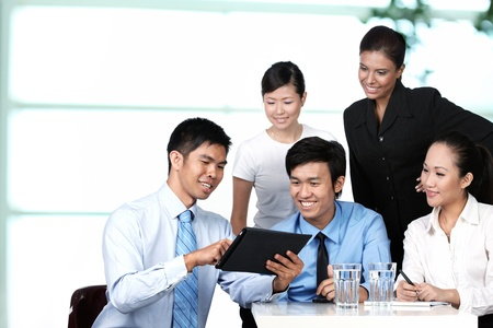asian office lady: Business colleagues working together Stock Photo