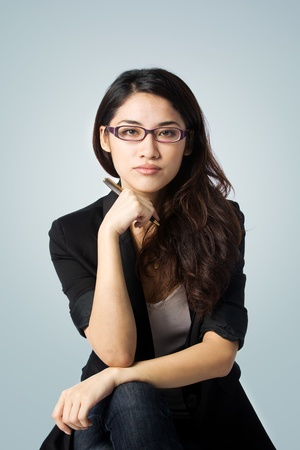 young and confident asian businesswoman photo