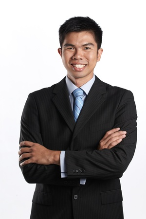 Portrait of a happy Asian Businessman photo