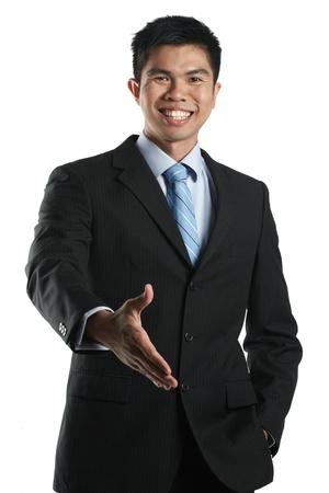 Portrait of a happy Asian Businessman photo