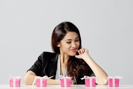 Studio beeld van een Aziatische vrouw Stockfoto