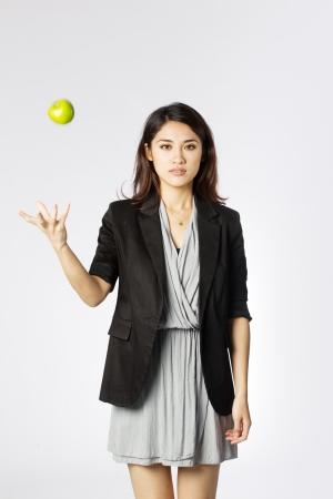 pretty lady: Studio image of an asian woman