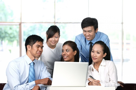 Business colleagues working together Stock Photo - 10322513