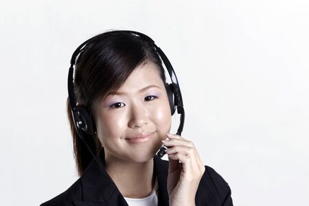 customer service representative: Asian customer service representative