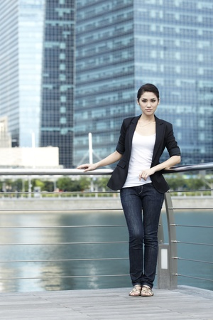 Business woman in the city Stock Photo - 10322495