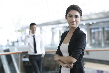 business environment: Business woman in a corportate environment