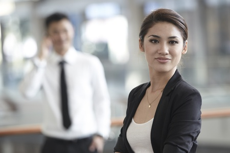 asian office lady: Business woman in a corportate environment