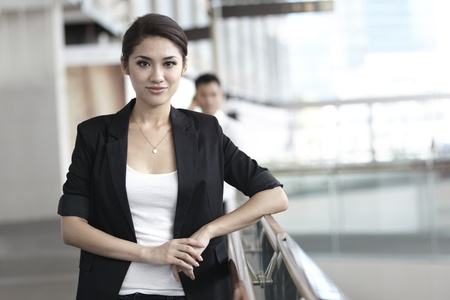 business focus: Business woman in a corportate environment