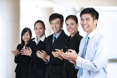 Portrait of  a group of Asian business people photo