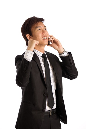 Business exective in corporate setting on phone Stock Photo - 10336577
