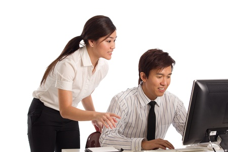 Corporate themed image of a people working photo