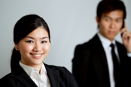 Corporate themed image of business people Stock Photo - 10336659