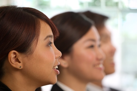 china people: Corporate themed image of business people