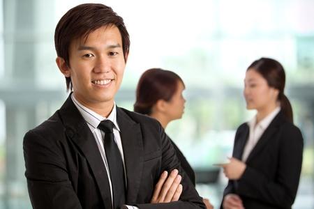 imagen corporativa: Imagen corporativa con temas de gente de negocios