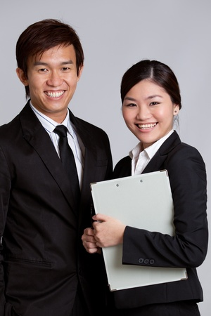 Corporate themed image of business people photo