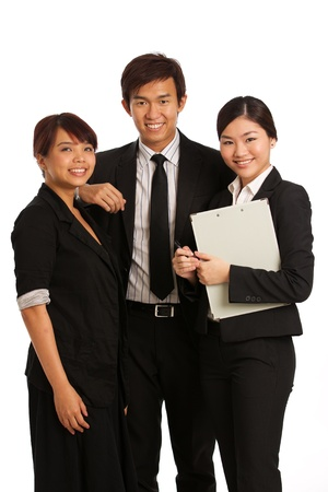 asian business people: Corporate themed image of business people