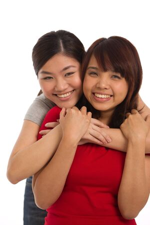 women friendship: portrait of two women themed on friendship and togetherness