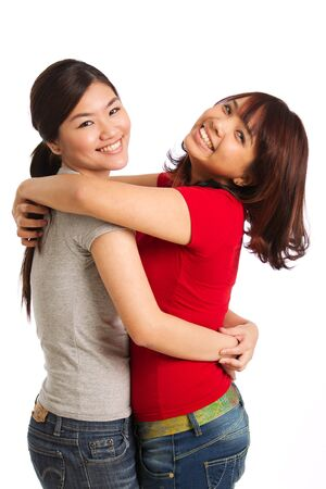 portrait of two women themed on friendship and togetherness photo
