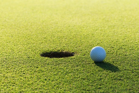up country: Golf ball on the green