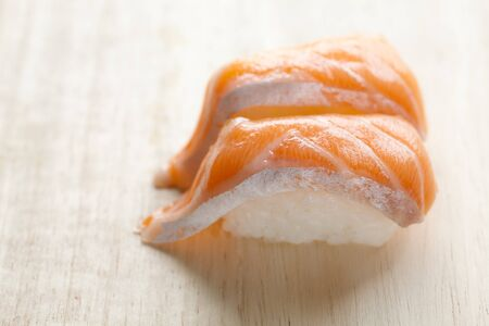 groupings: Salmon Sushi Stock Photo