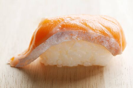 groupings: Salmon Sushi Stock Photo