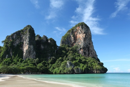 southern thailand: Beautiful scenery in Krabi provence, southern Thailand. Stock Photo