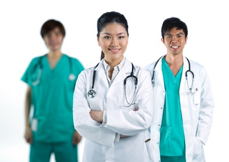 A group Portrait of an Asian medical team photo
