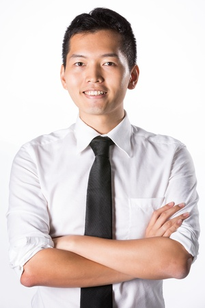 Portrait of a Happy Asian business man. Stock Photo - 13867168
