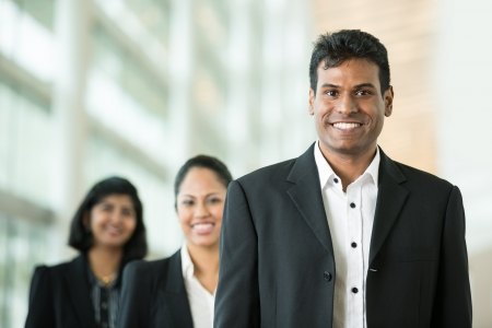 Happy & successful Indian business team at the office.  Stock Photo - 14604023