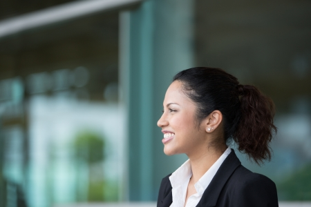 A portrait of a young Indian business woman at the office  Stock Photo - 14608171