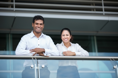 east indians: Happy & successful Indian business team at the office.