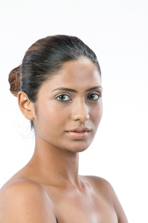 naked sexy girl: Portrait of a beautiful Indian female model.