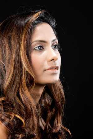 Portrait of a beautiful Indian female model.