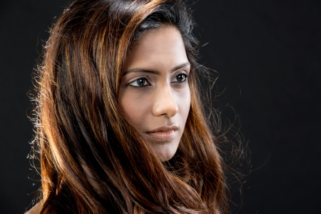 Portrait d'un beau modèle féminin indien. Banque d'images - 14840671