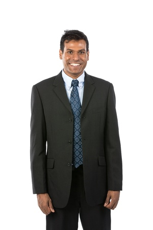 Portrait of a handsome Indian Business man. Isolated on a white background. photo