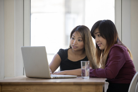 filipino adult: Asian busines team working together in the office. Stock Photo