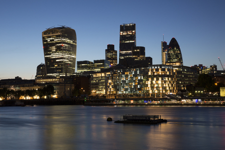The London Skyline at the Riverside area. Stock Photo