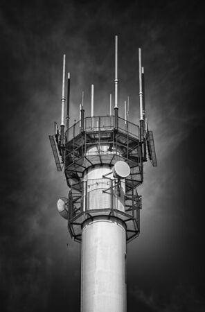 the antennae: Airport Radar Antennae Stock Photo