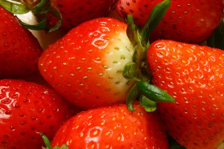 fragaria: strawberry Stock Photo