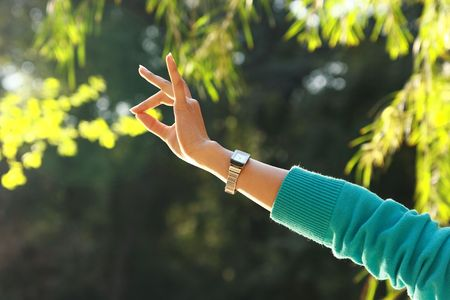 Girl Beautiful Hand, Finger Gestures And Movements photo