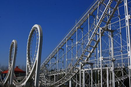 Amusement Park Roller Coaster Stock Photo - 4402326