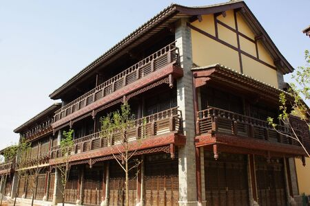 Ancient Chinese wooden housing Stock Photo - 4484465